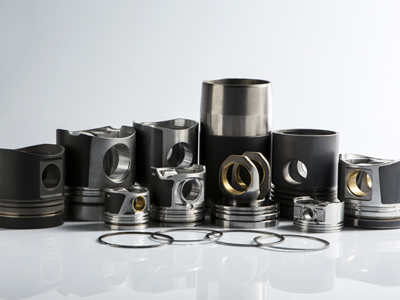 Piston, pin, liner, rings and zeger